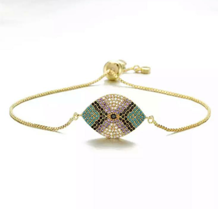 Colourful Gold String Bracelet