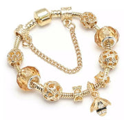 Honey Bee Gold Charm Bracelet