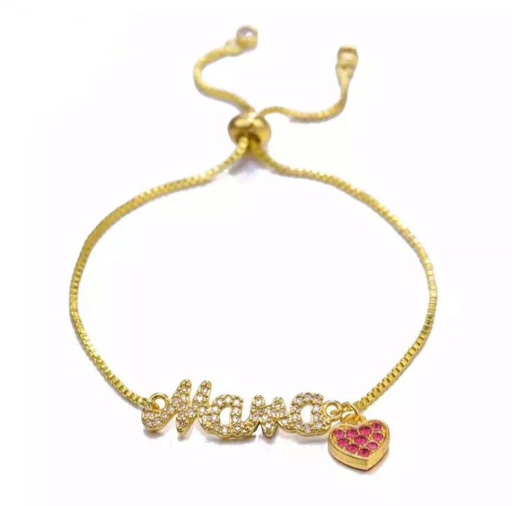 Letter String Adjustable Bracelet