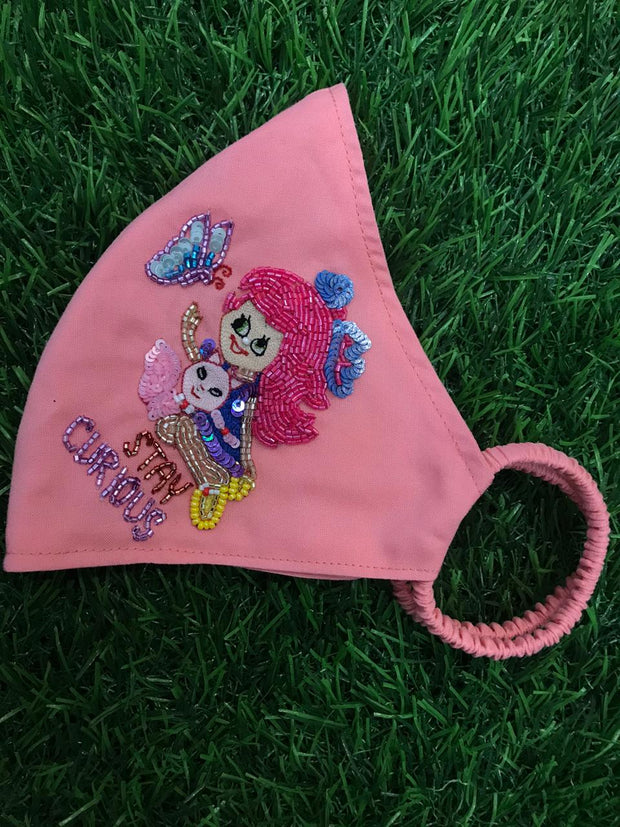 Kitty Doll Initial Peach Mask