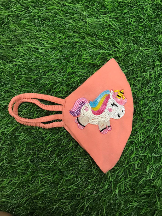 Unicorn Peach Initial Mask