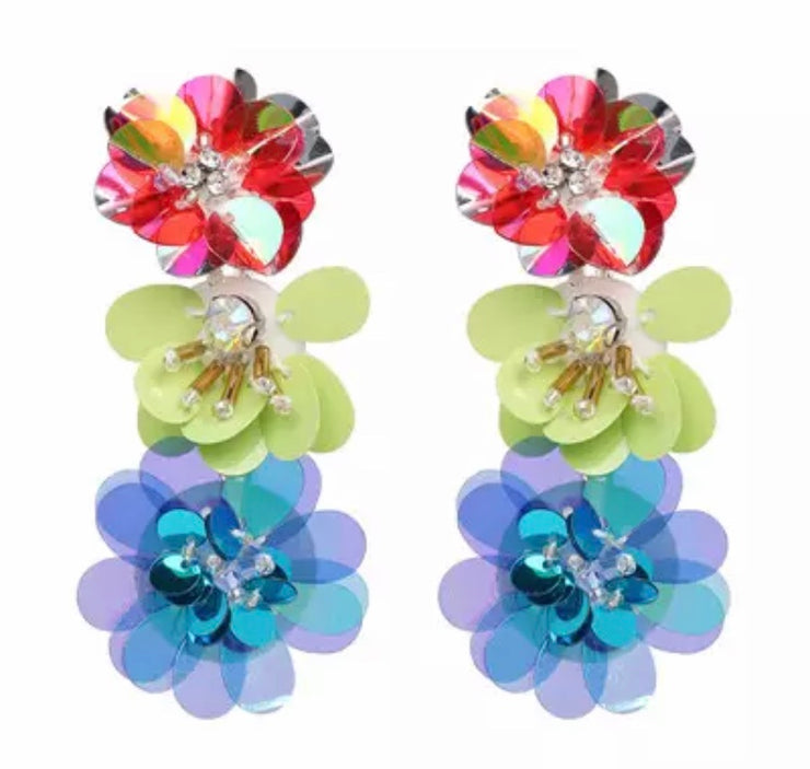 Multicolour Flora Earrings