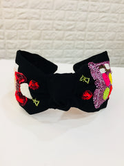 Panda Black Hairband