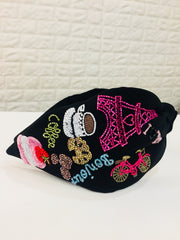 Paris Black Hairband