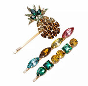 Rhinestone Pineapple Hair Clips