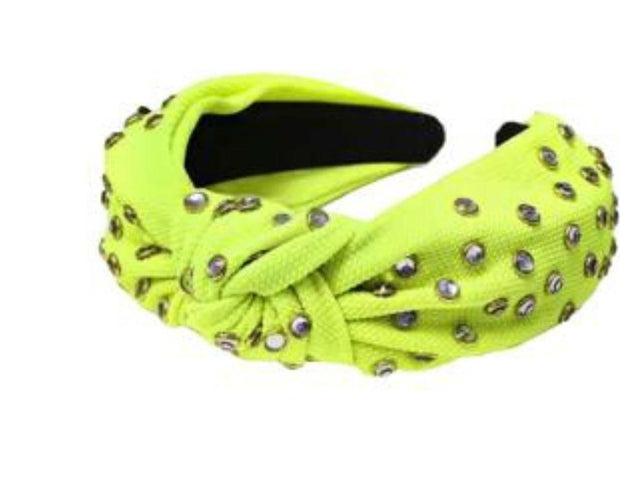 Neon Green Studded Hairband