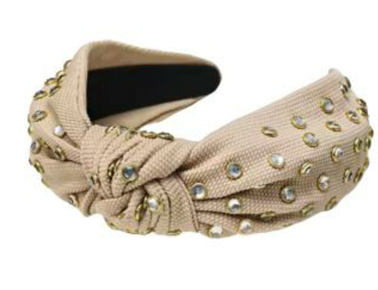 Light Brown Studded Hairband