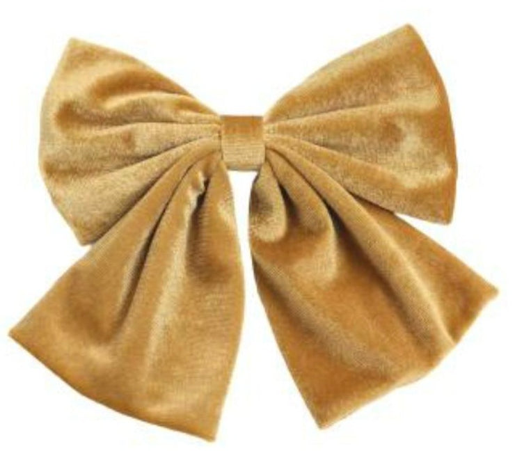 Golden Party Wear Velvet Hair Bow