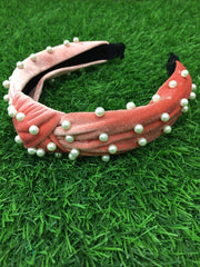 Salmon Pink Pearly Hairband