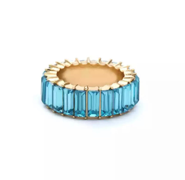 Sky Blue Stud Ring