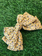 Floral Printed Mustard Hairband