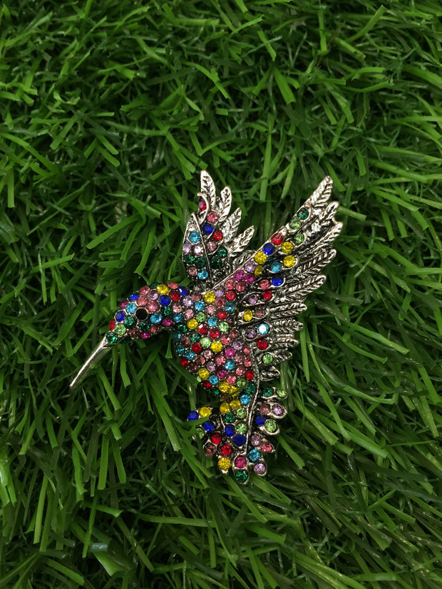 Multicolor Bird Brooch