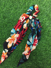 Colourful Floral Scrunchie