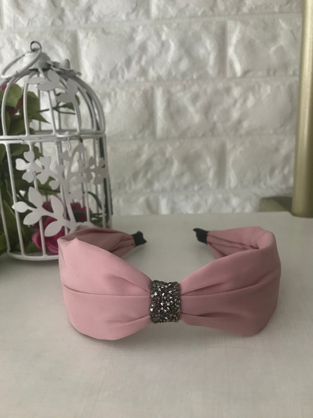 Light Pink Crystal Hairband