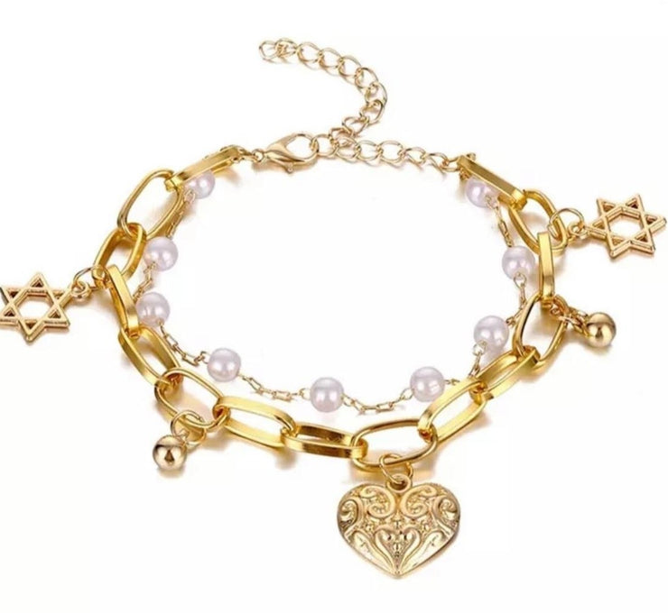 Lovevine Gold Adjustable Bracelet