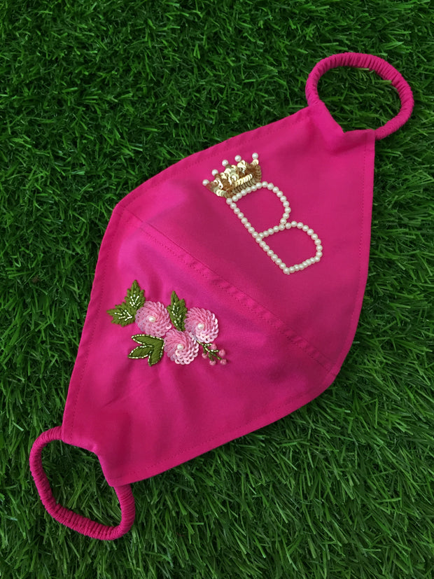 Blossom Initial Hot Pink Mask