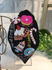Dessert Black Turban Hairband