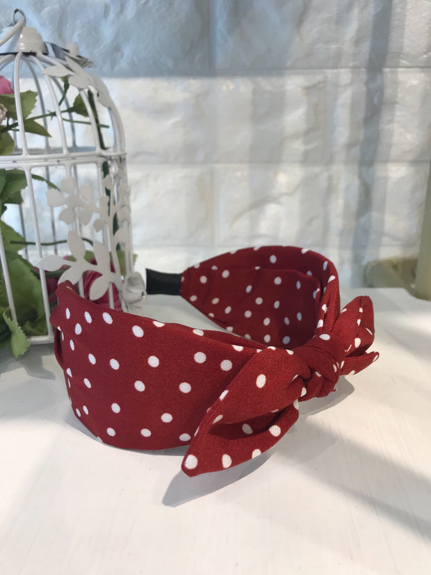 Red Dotted Hairband
