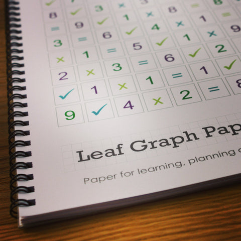 Leaf Graph Paper - Times Table Workbook