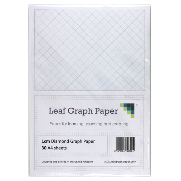 A4 Diamond Graph Paper 10mm 1cm - 30 Loose-Leaf Sheets