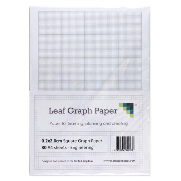 A4 Graph Paper 2mm 0.2mm Squared Engineering - 30 Loose-Leaf Sheets