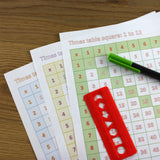 A4 Times Table Grid Pack - 1 to 12 Multiplication Square - 30 Loose-Leaf Sheets - Teaching Resource
