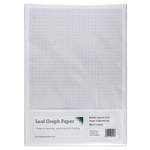 A3 Graph Paper 1mm 0.1cm Squared Engineering - 30 Loose-Leaf Sheets