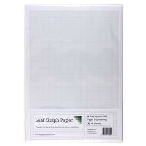 A3 Graph Paper 2mm 0.2cm Squared Engineering - 30 Loose-Leaf Sheets