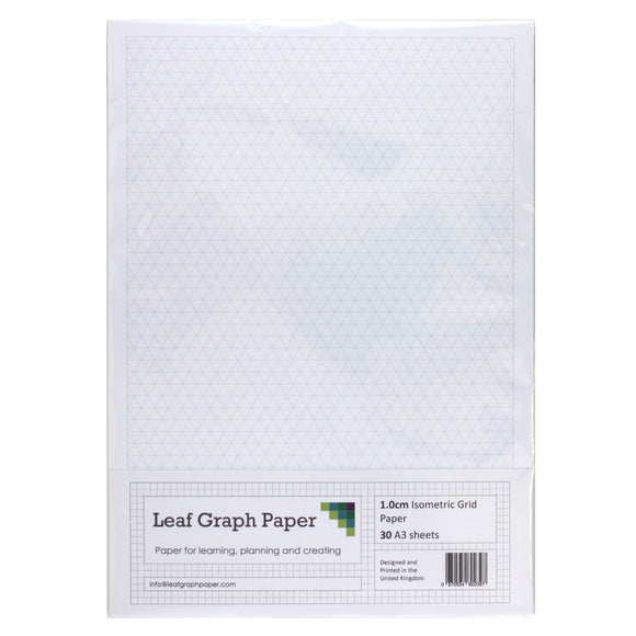 A3 Isometric Graph Paper 10mm 1cm - 30 Loose-Leaf Sheets