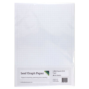 A3 Graph Paper 10mm 1cm Squared - 30 Loose-Leaf Sheets