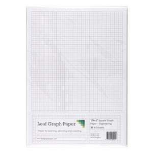 "A3 Graph Paper 1/4 inch 0.25"" Squared Engineering - 30 Loose-Leaf Sheets - Leaf Graph Paper"