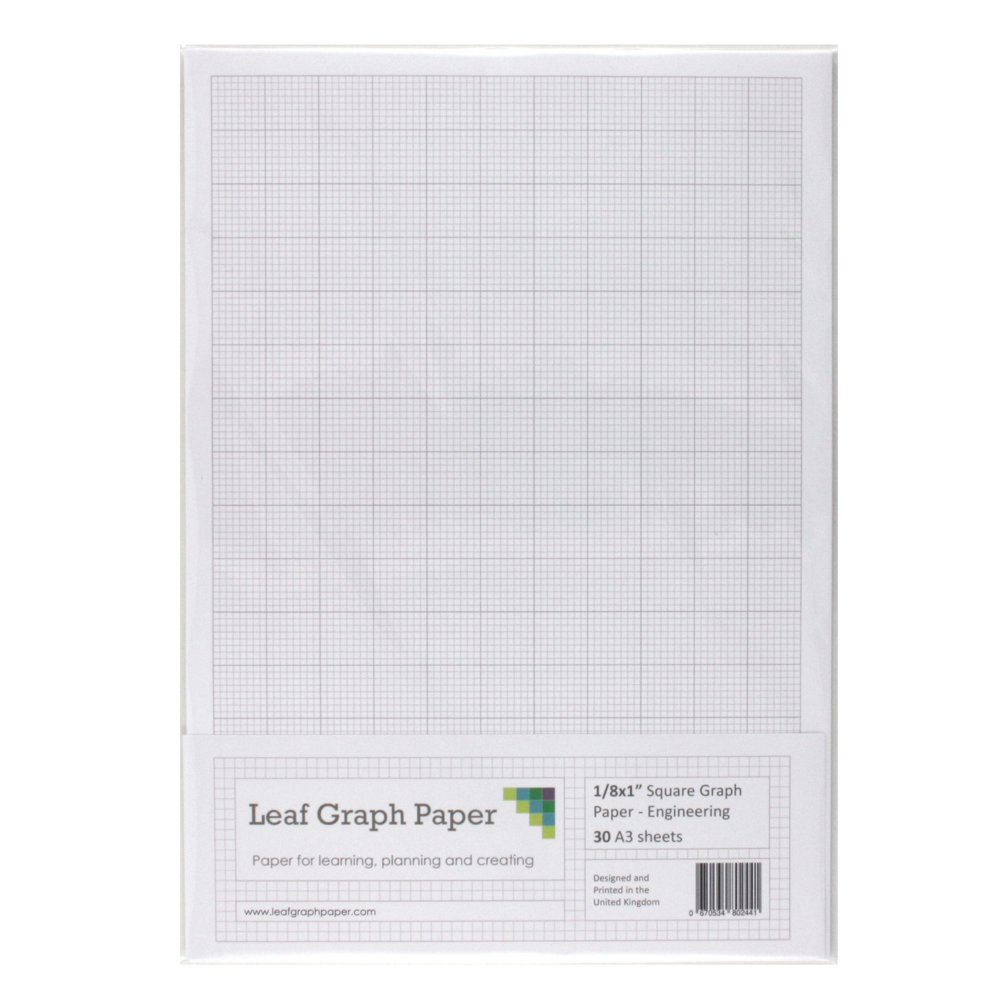 a3 graph paper 1 8 inch 0 125 squared engineering 30 loose leaf