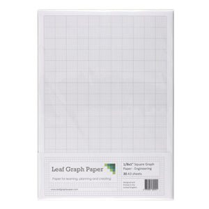 "A3 Graph Paper 1/8 inch 0.125"" Squared Engineering - 30 Loose-Leaf Sheets - Leaf Graph Paper"