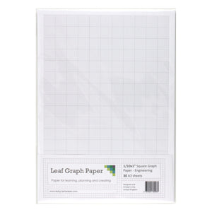 "A3 Graph Paper 1/10 inch 0.1"" Squared Engineering - 30 Loose-Leaf Sheets - Leaf Graph Paper"