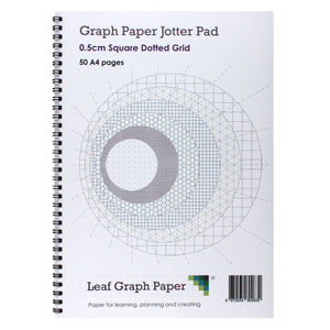 A4 Square Dotted Grid 5mm 0.5cm Graph Jotter Pad - 50 Pages