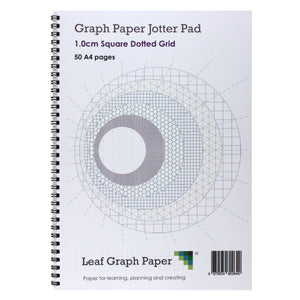 A4 Square Dotted Grid 10mm 1.0cm Graph Jotter Pad - 50 Pages