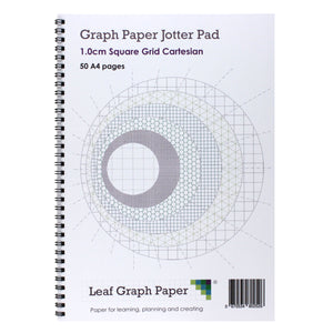 A4 Graph Paper 10mm 1cm Squared - Jotter Pad 50 Pages