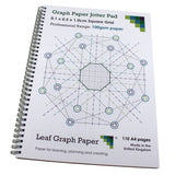 1mm 0.1cm Squared Graph Paper Jotter, 110 A4 pages, Frosted Covers, 100gsm Paper
