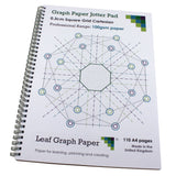 3mm 0.3cm Squared Graph Paper Jotter, 110 A4 pages, Frosted Covers, 100gsm Paper