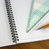 A3 Isometric Dotted Grid Graph Paper 10mm 1cm, 60 Page Jotter, Grey Grid, 100gsm