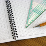 Products A3 Isometric Grid Graph Paper 10mm 1cm, 60 Page Jotter, Grey Grid, 100gsm
