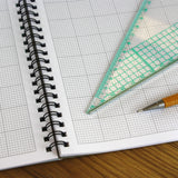 A3 graph paper jotter pad 2mm 0.2cm squared engineering