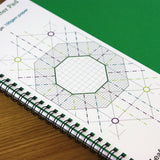 A3 graph paper jotter pad 5mm 0.5cm squared cartesian, 60 pages 100gsm paper