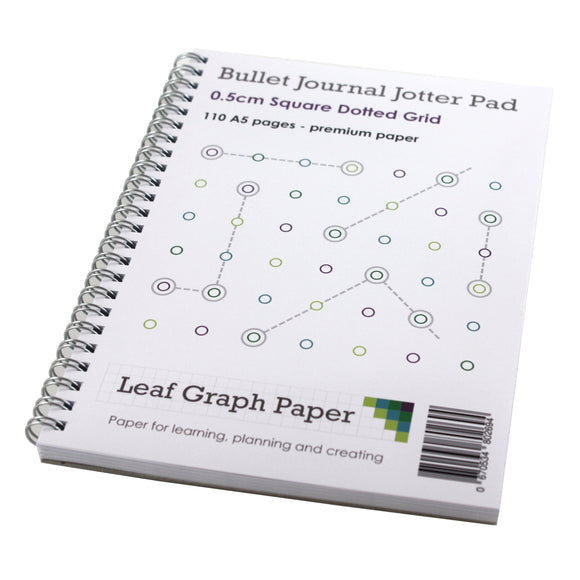 Bullet Journal A5 Jotter Pad - Premium Paper - 110 Pages - Planning
