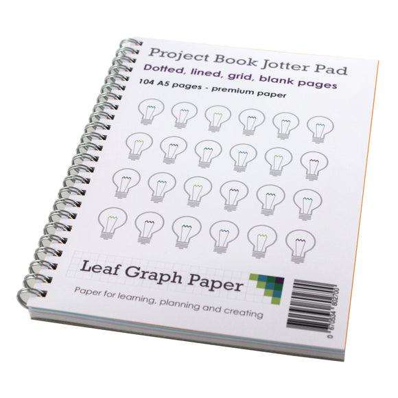 Project Book A5 Jotter Pad - Premium Paper - 110 Pages - Planning