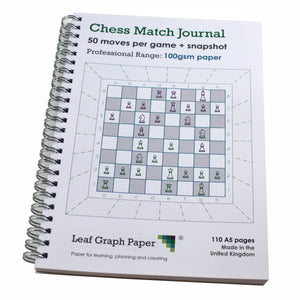 A5 Chess Match Game Score Book Journal, 100gsm Paper, Frosted Covers