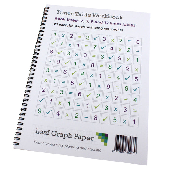 Times Table Workbook KS2 6, 7, 9 and 12 Tables (Ages 6 to 9) Book 3