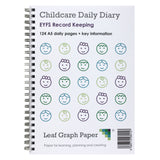 A5 Childcare Daily Diary, Childminder Journal, EYFS 124 Days, Acetate Cover Board Backed
