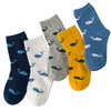 5 Pair/Lot Cotton Socks 1-10 Years