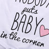 NOBODY PUTS BABY IN THE CORNER ROMPER